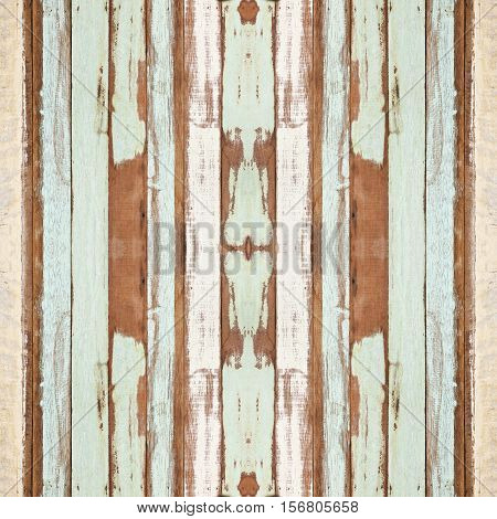Colorful seamless old wood planks texture can be used for background