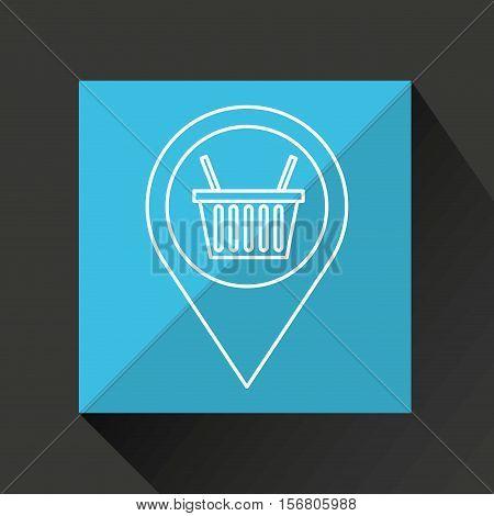 basket shopping discount marketing icon vector illustration eps 10