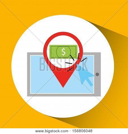 smartphone shopping online money graphic vector illustration eps 10