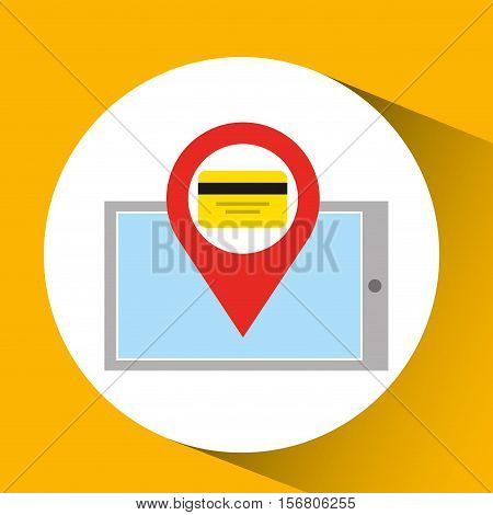 smartphone e-commerce pin credit card vector illustration eps 10