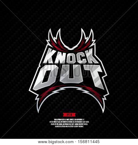Knockout Fighting Logo Design.