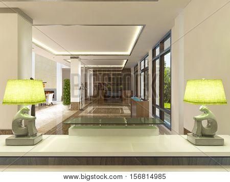 Modern Design Reception Area.
