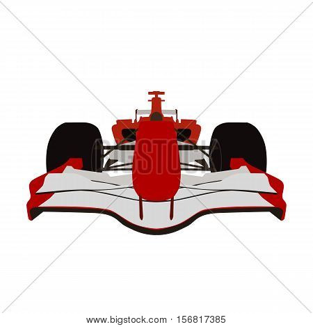 Formula racing car red sports car vector isolated illustration