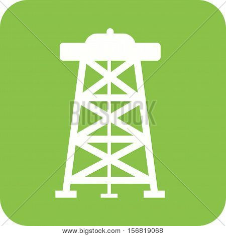 Oil, derrick, rig icon vector image. Can also be used for Industrial Process. Suitable for mobile apps, web apps and print media.