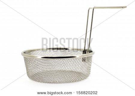 Brilliant sieve on a white background closeup