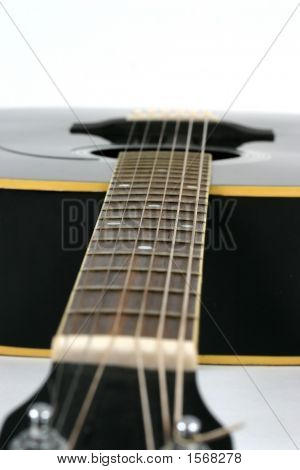 Close Up Of The Neck Of A Guitar