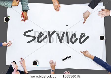 Service Assistance Support Help Customer Satisfaction Concept