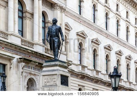 Foreign Office And Robert Clive Memorial In London