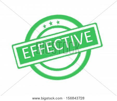 Illustration of effective word on green rubber stamp