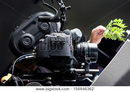 35 mm Motion picture camera on set