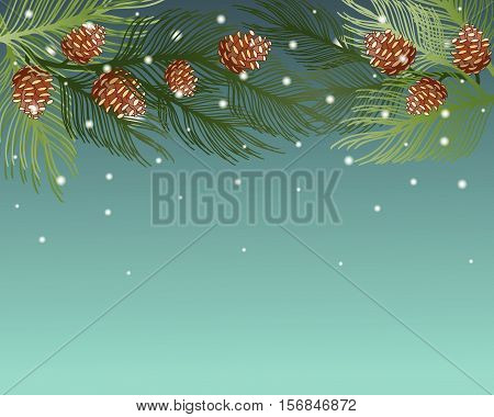 Merry Christmas And Happy New Year 2017 Greeting Card Background. Eps 10 Vector Illustration
