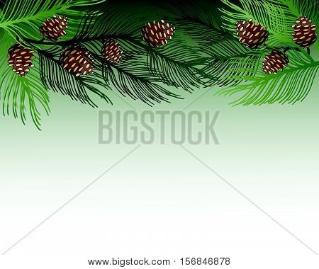 Merry Christmas And Happy New Year 2017 Greeting Card. Eps 10 Vector Illustration