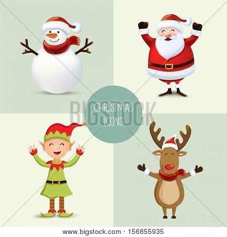 Vector Christmas characters.