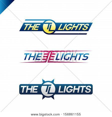 The Light Text Sport Style Emblem With Tl Letter Logotype Set. Sport Text Logo Fot T-shirt