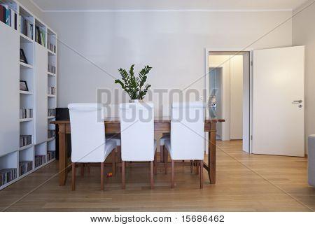 modern dining-room, interior view