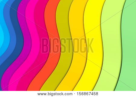 abstract background with lines wave color 3d illustration