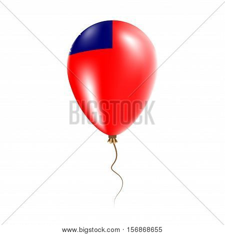 Samoa Balloon With Flag. Bright Air Ballon In The Country National Colors. Country Flag Rubber Ballo