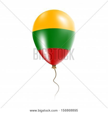 Lithuania Balloon With Flag. Bright Air Ballon In The Country National Colors. Country Flag Rubber B