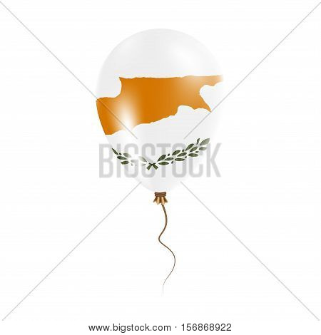 Cyprus Balloon With Flag. Bright Air Ballon In The Country National Colors. Country Flag Rubber Ball