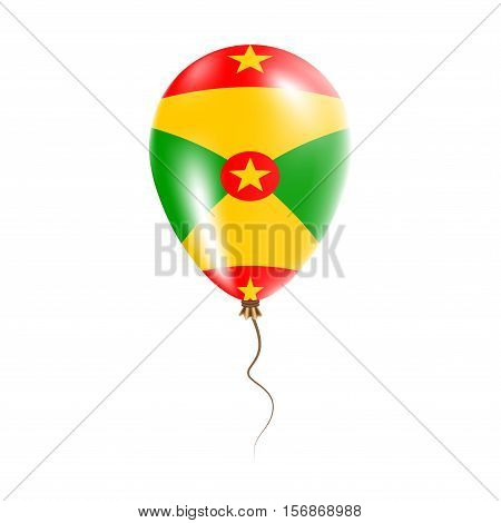 Grenada Balloon With Flag. Bright Air Ballon In The Country National Colors. Country Flag Rubber Bal