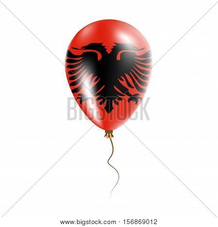 Albania Balloon With Flag. Bright Air Ballon In The Country National Colors. Country Flag Rubber Bal