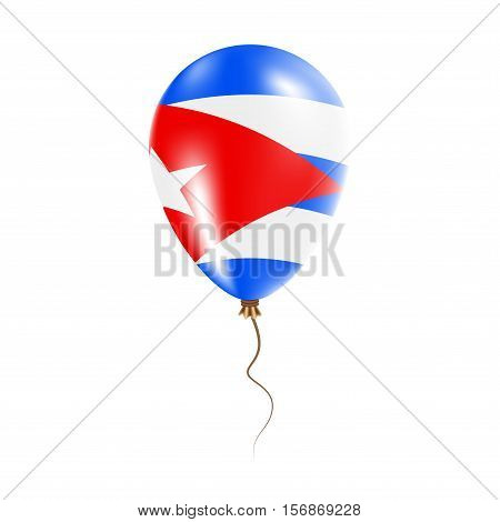 Cuba Balloon With Flag. Bright Air Ballon In The Country National Colors. Country Flag Rubber Balloo