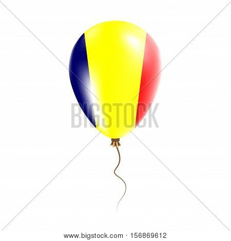 Chad Balloon With Flag. Bright Air Ballon In The Country National Colors. Country Flag Rubber Balloo