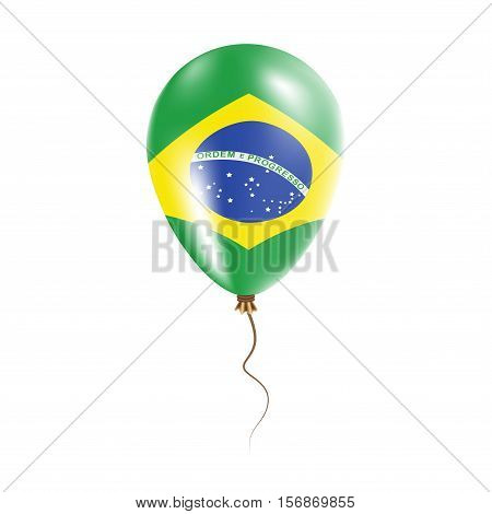Brazil Balloon With Flag. Bright Air Ballon In The Country National Colors. Country Flag Rubber Ball