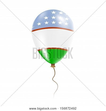 Uzbekistan Balloon With Flag. Bright Air Ballon In The Country National Colors. Country Flag Rubber