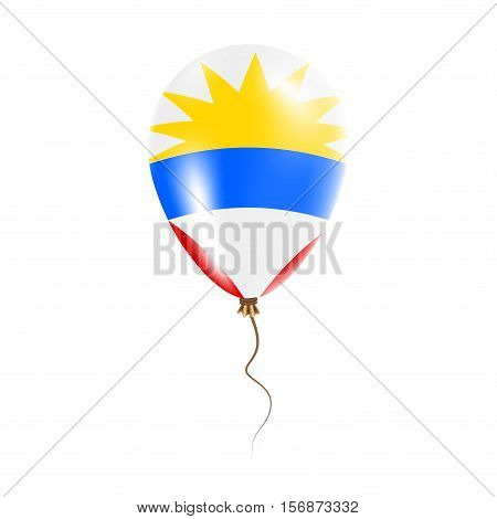Antigua And Barbuda Balloon With Flag. Bright Air Ballon In The Country National Colors. Country Fla