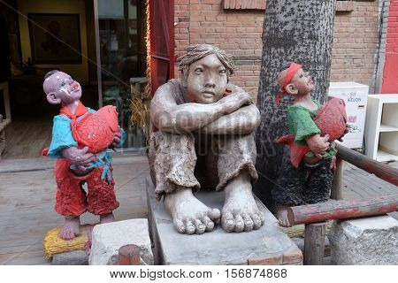 BEIJING - FEBRUARY 25: 798 Art District. The 798 Art District is regarded as the biggest arts area in China and it has won international acclaim during last years, Beijing, China, February 25, 2016.