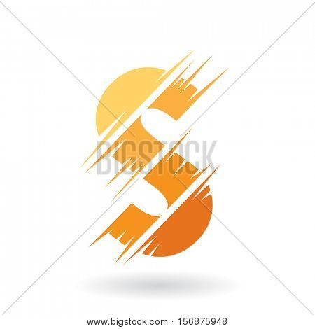 Design Concept of an Abstract Icon of Letter S, Vector Illustration