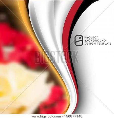 abstract flat layout wave elements marketing business corporate design template. eps10 vector