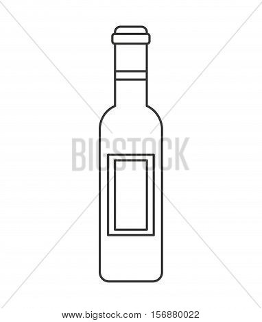 wine bottle drink isolated icon vector illustration design