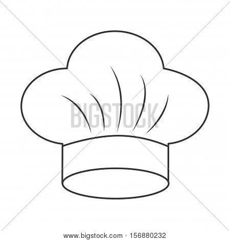 hat chef uniform isolated icon vector illustration design