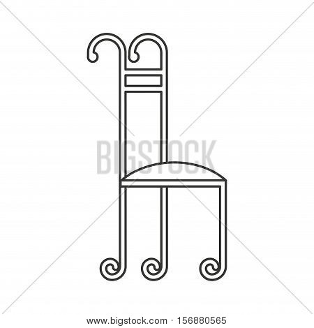 wrought iron frame isolated icon vector illustration design