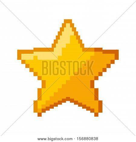 star game pixelated icon vector illustration design
