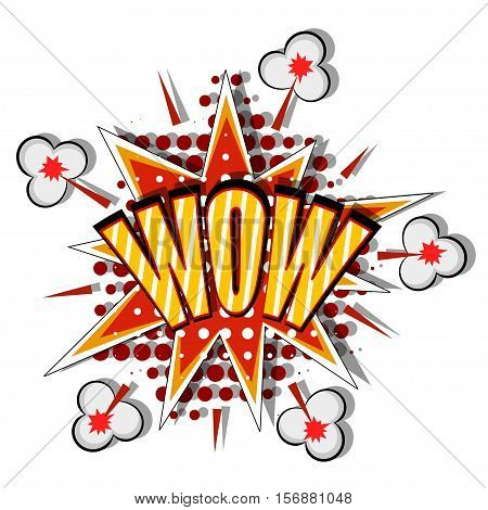 Cartoon bang. Red Cartoon explosion on a white background