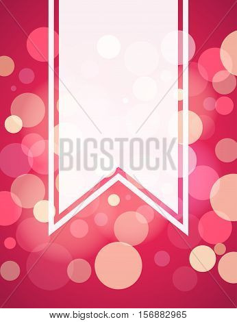 Pinkish red bokeh blank banner background design