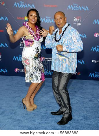 Temuera Morrison at the AFI FEST 2016 Premiere of 'Moana' held at the El Capitan Theatre in Hollywood, USA on November 14, 2016.