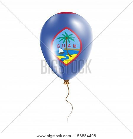 Guam Balloon With Flag. Bright Air Ballon In The Country National Colors. Country Flag Rubber Balloo
