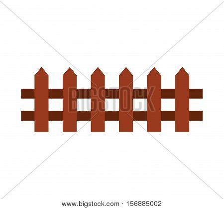 fence farm isolated icon vector illustration design