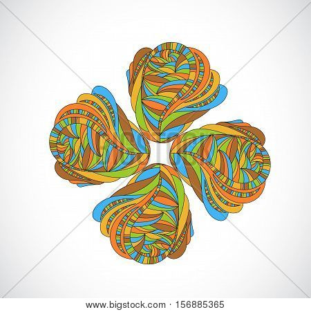 Abstract colorful design element. Illustration 10 version