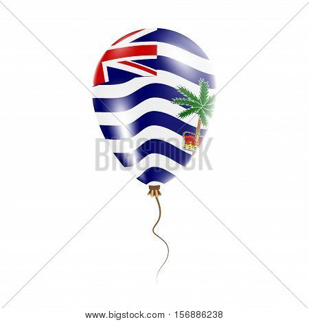 British Indian Ocean Territory Balloon With Flag. Bright Air Ballon In The Country National Colors.