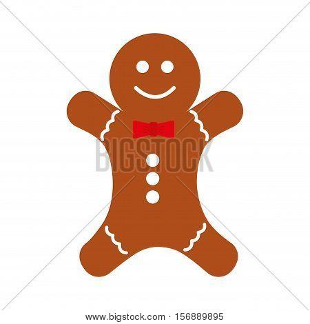 christmas ginger bread decorative icon vector illustration design