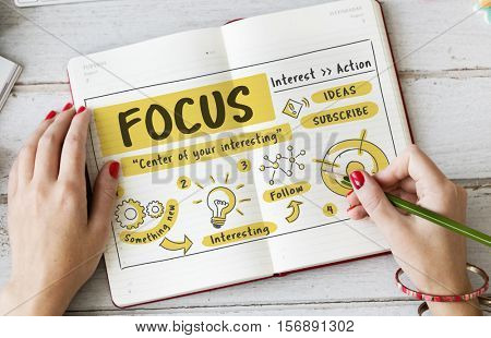 Focus Concentration Goals Target Determine Concept