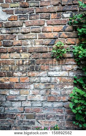 Fragment of the wall enclosing the Jewish ghetto during World War II in Warsaw Poland