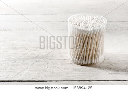 Cylindrical Container Of Clean Cotton Buds