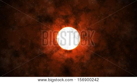 Under the Moon and Clouds Red Sky Background 2D Illustration, Mystic Moon Backround, Dark Night