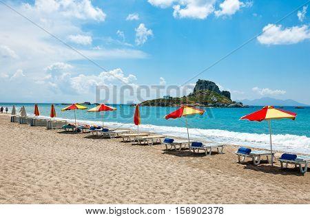 Greece Dodecanese Kos the Kefalos bay and the Kastri little island